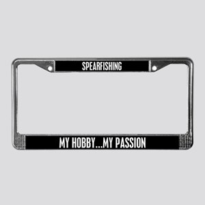 Spearfishing License Plate Frame