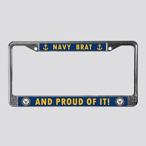 U.S. Navy Brat License Plate Frame