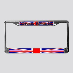 British Union Jack Flag License Plate Frame