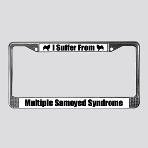 Samoyed License Plate Frame