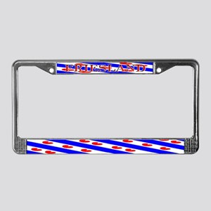 Friesland Frisian Blank Flags License Plate Frame