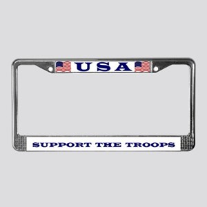 Support the Troops License Plate Frame