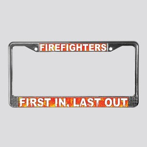 First In Last Out License Plate Frame