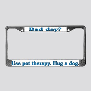 Bad Day Therapy License Plate Frame