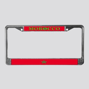 Morocco Moroccan Flag License Plate Frame