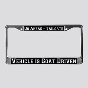 Goat Driven License Plate Frame