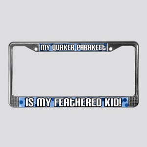Quaker Parakeet Feathered Kid License Plate Frame