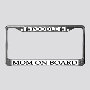Black Poodle Mom License Plate Frame