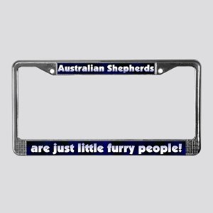 Furry Ppl Australian Shepherd License Plate Frame