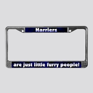 Furry People Harrier License Plate Frame