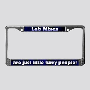 Furry People Lab Mix License Plate Frame
