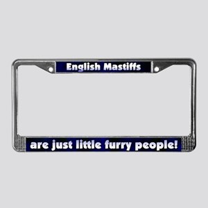 Furry People English Mastiff License Plate Frame