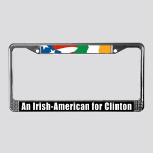 Irish-American For Clinton License Plate Frame