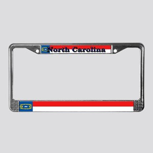 North Carolina State Flag License Plate Frame