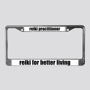Reiki Better Living License Plate Frame