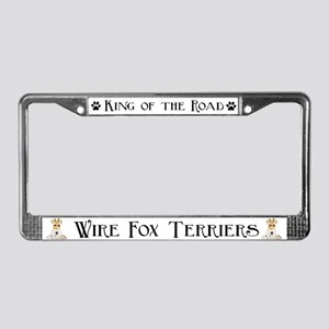 Wire Fox Terrier License Plate Frame
