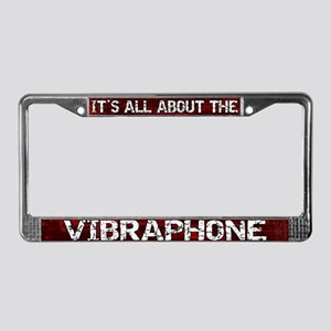All About Vibes License Plate Frame Red