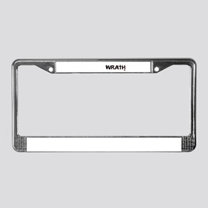 Wrath License Plate Frame