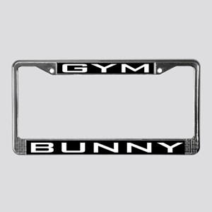Gym Bunny License Plate Frame