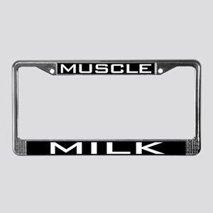 Muscle Milk License Plate Frame