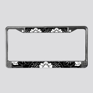 water-lily-motif_lpu License Plate Frame