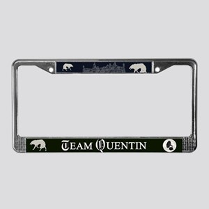 Team Quentin B&W License Plate Frame