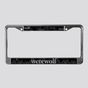 Werewolf Forest License Plate Frame