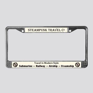Steampunk Travel License Plate Frame