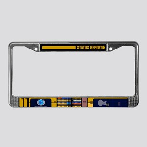 Star Trek LCARS Status Report License Plate Frame