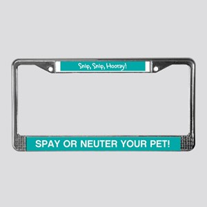 Spay + Neuter License Plate Frame