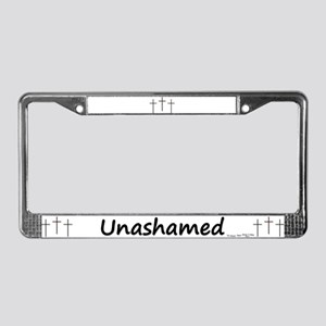 License Plate Frame - 3 Crosses Unashamed