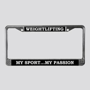 Weightlifting My Passion License Plate Frame