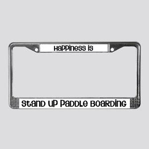 Happiness is SUP License Plate Frame