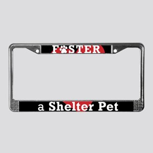Foster a Shelter Pet License Plate Frame