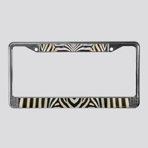 Zebra Stripe  License Plate Frame