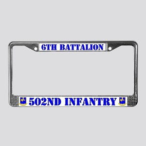 6th Battalion 502nd Infantry License Plate Frame