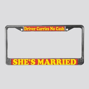 Woman Driver License Plate Frame