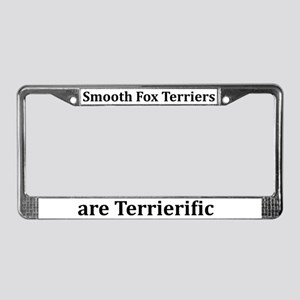 Smooth Fox Terriers License Plate Frame
