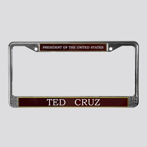 Ted Cruz President V3 License Plate Frame