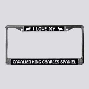 I Love My Cavalier King Charles... License Frame
