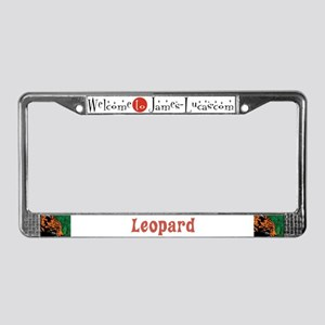 Leopard License Plate Frame