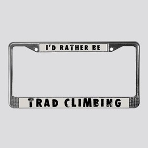Trad Climbing License Plate Frame
