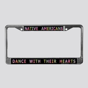 Powwows May Cause Dancing License Plate Frame
