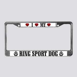 Ring Sport Dog License Plate Frame