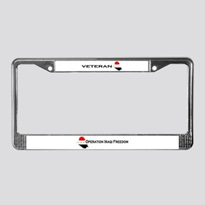 Iraqi Freedom Vets Pride Wear License Plate Frame