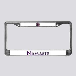 Sumi Style Mandala License Plate Frame