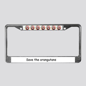 Orangutan Wildlife License Plate Frame