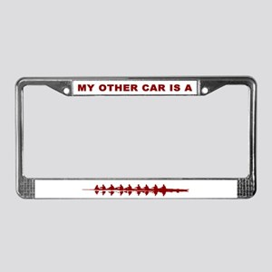 Red Crew License Plate Frame