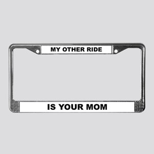Your Mom License Plate Frame