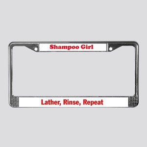 Shampoo Girl License Plate Frame